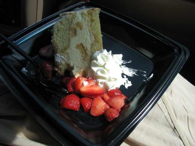 This is a picture of my birthday. YUM. Lemoncello Torte from Cheesecake Factory. My whole birthday revolved around food!